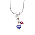 Tanzanite and Pink Tourmaline Pendant