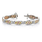 Tri Color Diamond Bracelet
