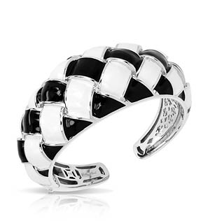 Cestina Black/White Bangle