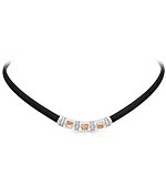 Celine Black and Champagne Necklace