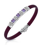 Celine Plum and Lavender Bracelet