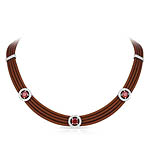 Circa Brown and Cherry Necklace