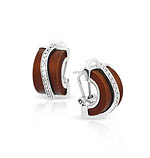 Enrapture Wavy Brown Earrings