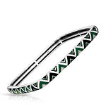 Constellations: Chevron Green and Black Bangle