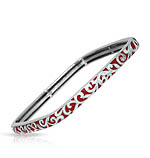 Constellations: Royale Red and White Square Bangle