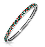 Constellations: Leopard Green and Red Bangle