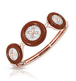 Button Brown Bangle