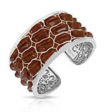 Coccodrillo Brown Bangle