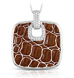 Coccodrillo Brown Pendant