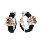 Diana Black Champagne/White Earrings