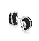 Enrapture Wavy Black Earrings