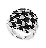 Houndstooth Black Ring