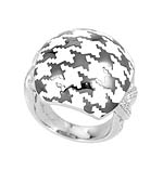 Houndstooth White Ring