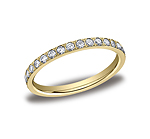 This gorgeous 2mm pave set eternity diamond ring features 33 beautiful round ideal-cut diamonds and polish...