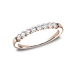 This elegant 2.5mm comfort-fit shared prong diamond band features round ideal cut diamonds. Total approx...