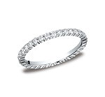 This elegant 2mm comfort-fit shared prong eternity diamond band features round ideal cut diamonds. Total ...