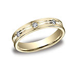 This beautiful 4mm comfort-fit bezel set diamond eternity band features a satin-finished and high polished ...
