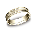 This incredible 6mm comfort-fit satin-finished carved design band features two high polished parallel cente...