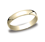 This 4mm traditional band has a classic inside and a lower dome surface on the outside that provides both a...