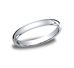 This beautiful 3mm band features a traditional domed profile and Comfort-Fit on the inside for unforgettab...