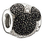 Jeweled Mickey - Black and Clear CZ