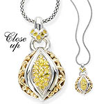 GB PD925 18K YELLOW SAPPHIRE NECKLACE 18""