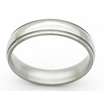5MM DOMED TITANIUM BAND WITH(2).5MM GROOVES WITH A POLISHED FINISH.