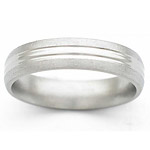 5MM DOMED TITANIUM BAND WITH ANOTHER DOME IN CENTER. POLISHED CENTER WIT...