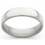 5MM DOMED TITANIUM BAND WITH A POLISH FINISH