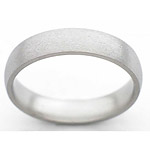 5MM DOMED TITANIUM BAND IN A STONE FINISH