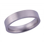 5MM FLAT TITANIUM BAND IN A SATIN FINISH.