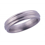 5MM FLAT BAND WITH ROUNDED EDGES IN A SATIN FINISH.