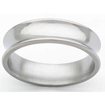 6MM CONCAVE TITANIUM BAND WITH A POLISHED FINISH.