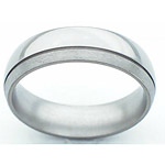 6MM DOMED TITANIUM BAND WITH (1).5MM OFF CENTER GROOVE. THE BIGGER EDGE I...