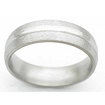 6MM DOMED TITANIUM BAND WITH A CONCAVE CENTER. THE CENTER IS POLISHED AND...