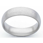 6MM DOMED TITANIUM BAND IN A STONE FINISH.