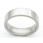 6MM FLAT TITANIUM BAND IN A POLISH FINISH.