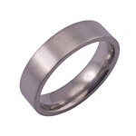 6MM FLAT TITANIUM BAND IN A SATIN FINISH.