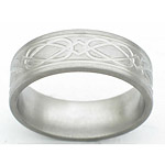 7MM FLAT TITANIUM BAND WITH(2).5 GROOVES AND CELTIC WEAVE TOOLING IN A S...