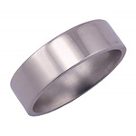 7MM FLAT TITANIUM BAND WITH A POLISH FINISH.
