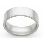 7MM FLAT TITANIUM BAND IN A SATIN FINISH.