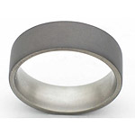 7,, FLAT TITANIUM BAND WITH A SANDBLAST FINISH.