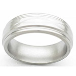 7MM FLAT TITANIUM BAND WITH ROUNDED EDGES AND INFINITY TOOLING IN A POLIS...