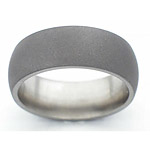 8MM DOMED TITANIUM BAND WITH A SANDBLAST FINISH.