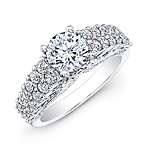 14k White Gold Vintage Engagement Ring with a White Diamond Gallery