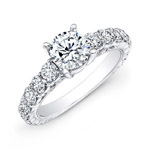 18k White Gold Prong Set Round Diamond Engagement Ring