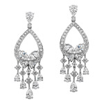18k White Gold Marquise Pear Shaped Diamond Earrings NK18217W