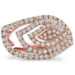 18k Rose Gold Fashion Diamond Band