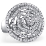 18k White Gold Fashion Diamond Circle Band