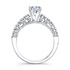 18k White Gold Prong Set White Diamond Bridal Set